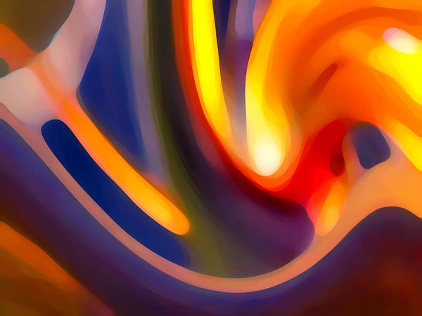 Abstract Art Poster featuring the photograph Paradise Creation by Amy Vangsgard