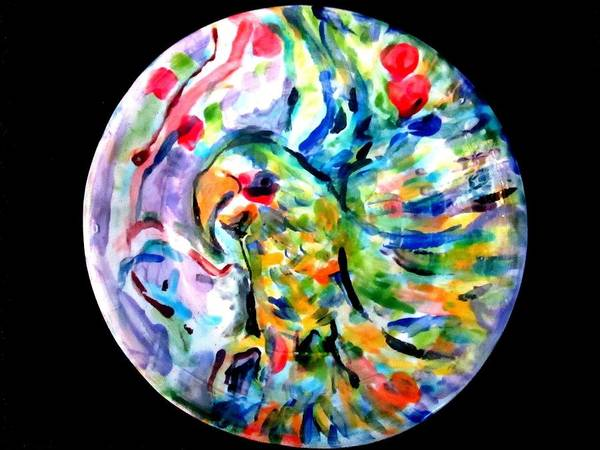 Ceramic Poster featuring the photograph Parrot Plate by Martha Nelson