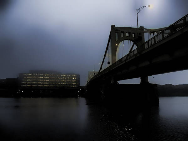 Pittsburgh Poster featuring the photograph Rachel Carson Bridge by S Patrick McKain