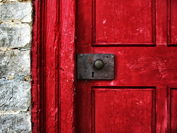 Red Poster featuring the photograph Red Door by Steven Michael