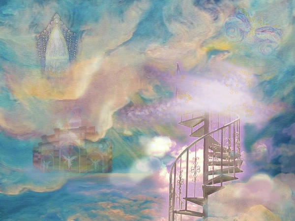 Heaven Poster featuring the painting Stairway To Heaven by Anne Cameron Cutri