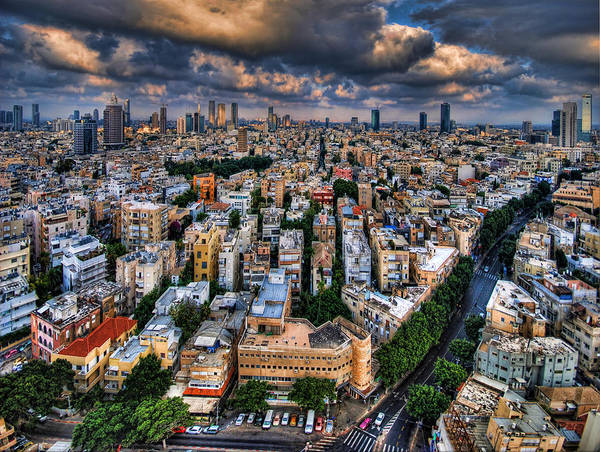 Israel Poster featuring the photograph Tel Aviv Lookout by Ron Shoshani