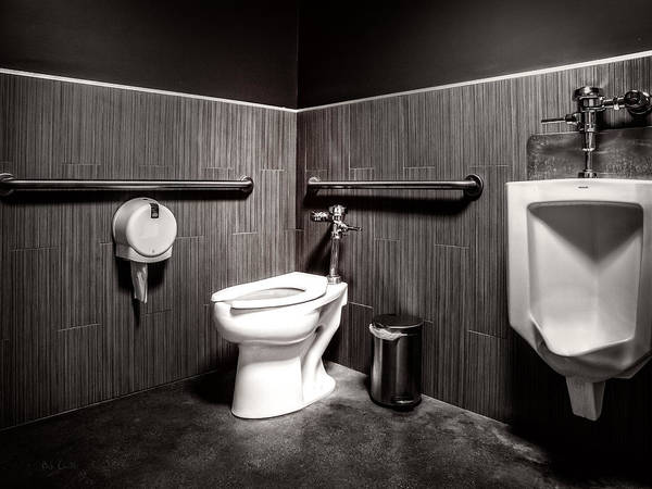 Architecture Poster featuring the photograph The Mens Room by Bob Orsillo