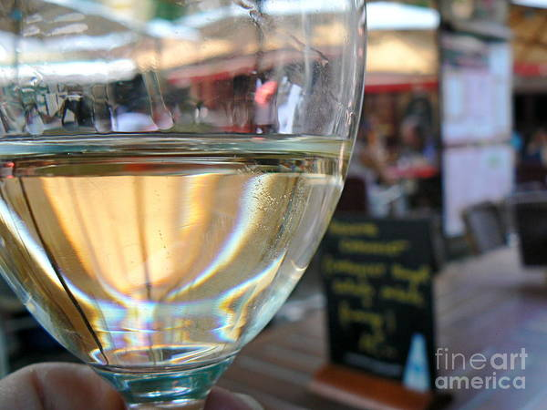 Wine Poster featuring the photograph Vin Blanc by France Art