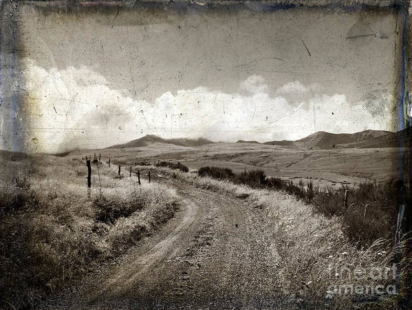 Eternity Poster featuring the photograph A Rural Path In Auvergne. France by Bernard Jaubert