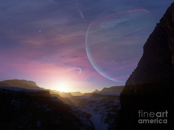 Artwork Poster featuring the digital art Artists Concept Of A Scene by Brian Christensen