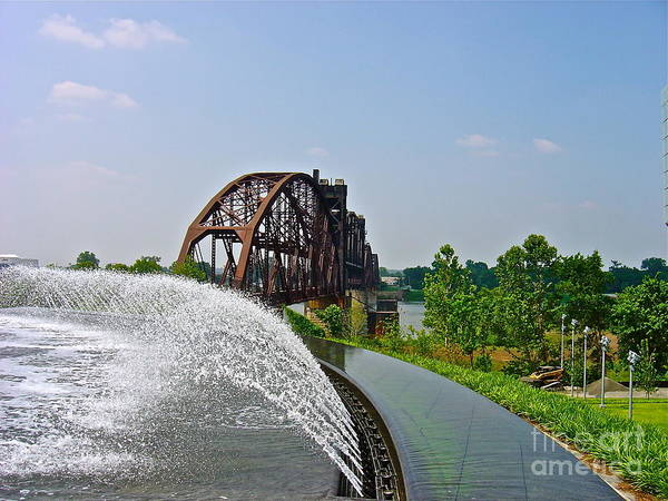 Natural Waterways Poster featuring the photograph Bridge To The Past by Joe Finney
