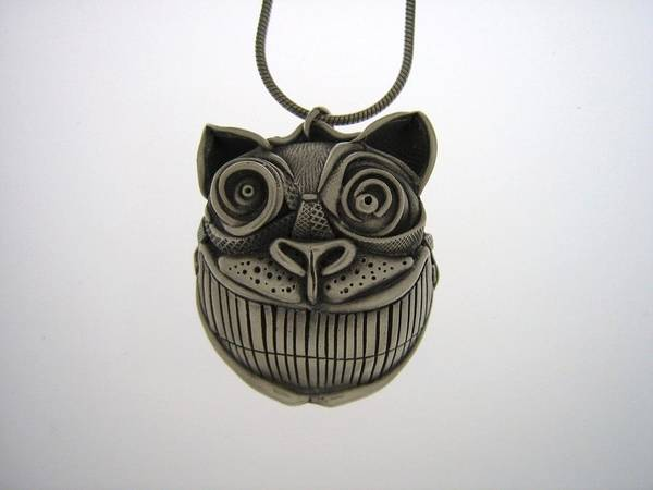 Cat Poster featuring the jewelry Cheshire Cat by Michael Marx