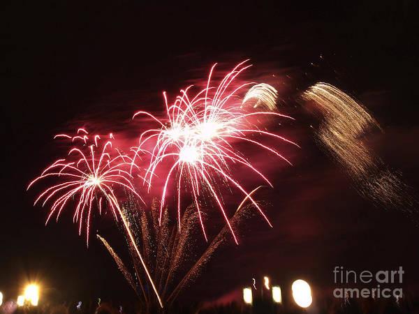 Aglow Poster featuring the photograph Firework Display by Bernard Jaubert