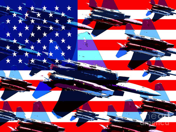 Transportation Poster featuring the photograph God Bless America Land Of The Free by Wingsdomain Art and Photography