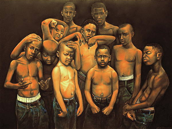 Kids Poster featuring the pastel Grown Babies by Curtis James