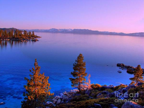 Lake Tahoe Sunset Poster featuring the photograph Lake Tahoe Serenity by Scott McGuire