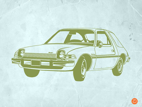 Auto Poster featuring the drawing My Favorite Car by Naxart Studio