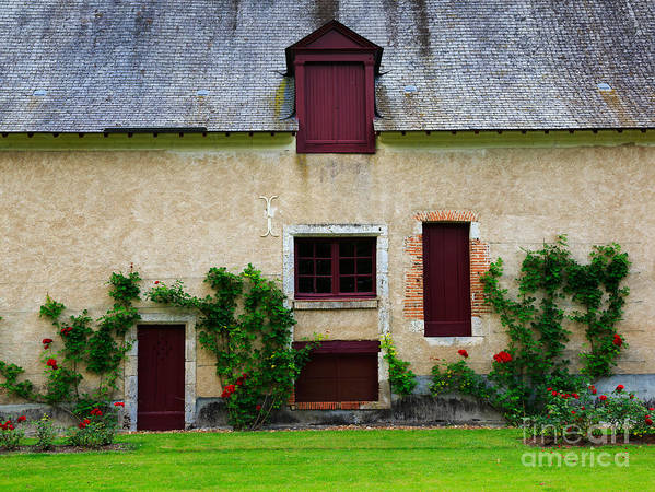 Outbuildings Poster featuring the photograph Outbuildings Of Chateau Cheverny by Louise Heusinkveld