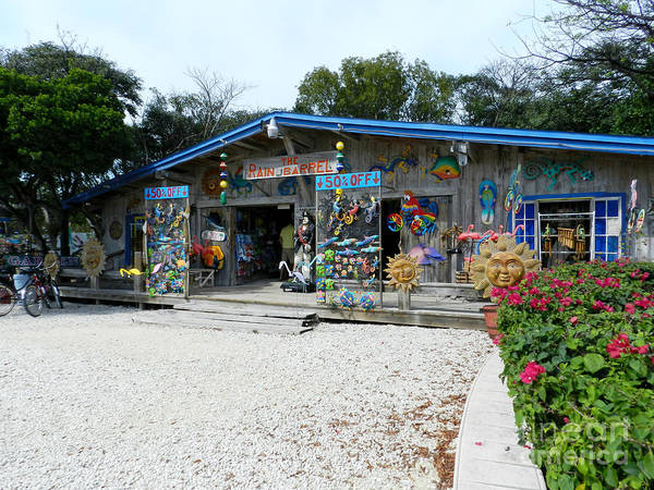 Islamorada Poster featuring the photograph Rain Barrel Artisan's Village by Tammy Chesney