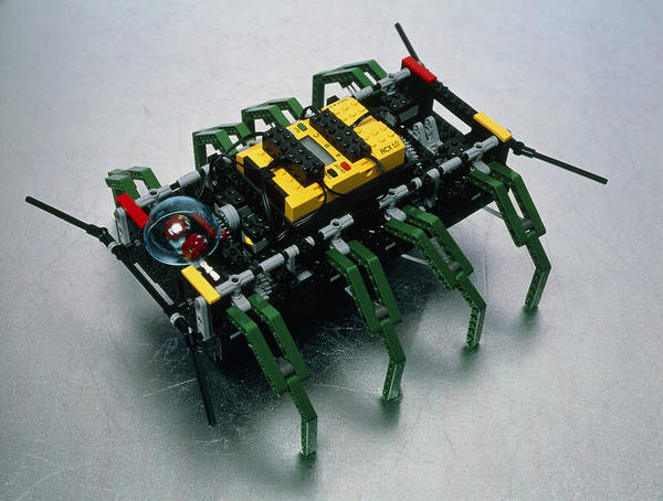 Robot Spider Poster featuring the photograph Robot Spider Constructed From Lego by Volker Steger