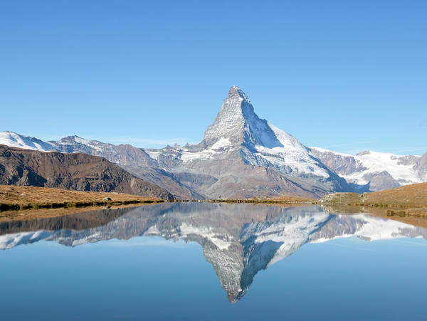 Horizontal Poster featuring the photograph Serene Matterhorn by Monica and Michael Sweet