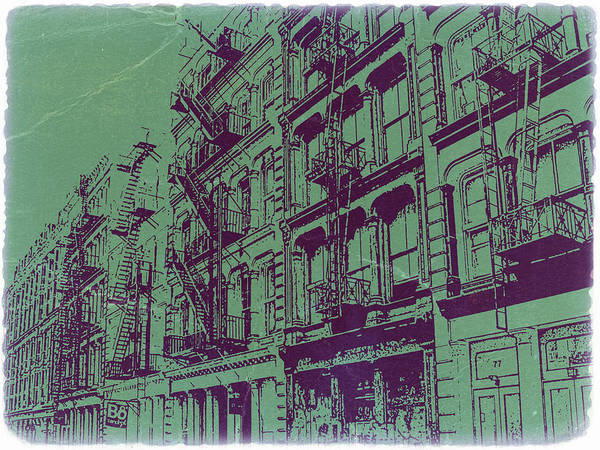 New York Poster featuring the photograph Soho New York by Naxart Studio