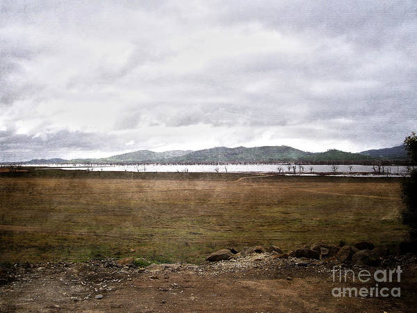 Brown Poster featuring the photograph Textured Land by Joanne Kocwin