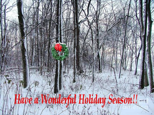 Poster featuring the photograph Tyra's Woods At Christmas by Julie Dant