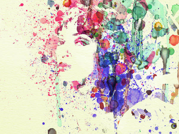 Uma Thurman Poster featuring the painting Uma Thurman by Naxart Studio