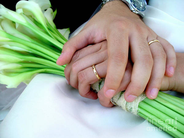 Background Poster featuring the photograph Wedding Rings by Carlos Caetano
