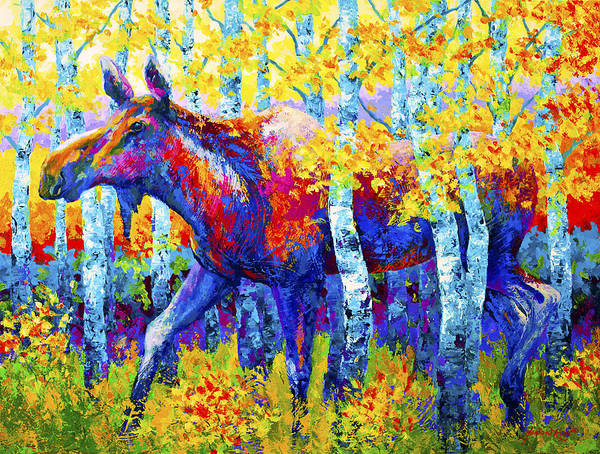 Moose Poster featuring the painting Autumn Queen by Marion Rose