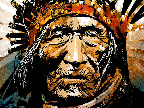 Native American Poster featuring the painting He Dog by Paul Sachtleben