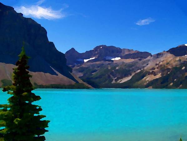 Scenic Poster featuring the photograph Azure Blue Mountain Lake by Greg Hammond