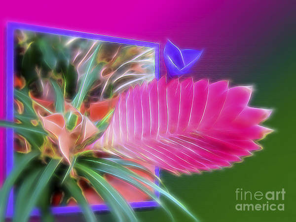 Surrealism Poster featuring the digital art Bursting Forth In Bloom by Sue Melvin