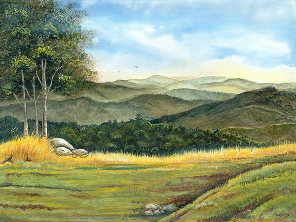 California Poster featuring the painting California Spring by Vidyut Singhal
