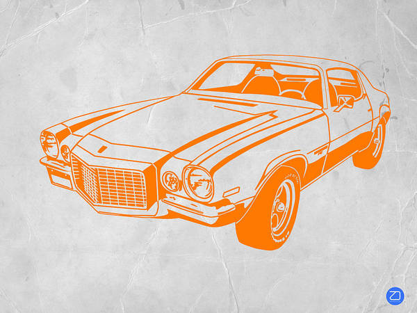 Poster featuring the photograph Camaro by Naxart Studio