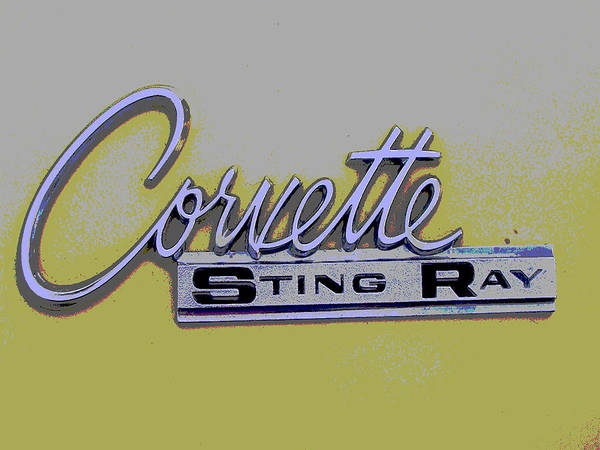 Car Artwork Poster featuring the photograph Corvette Emblem by Audrey Venute