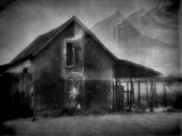 House Poster featuring the photograph Haunted House by Mimulux patricia no