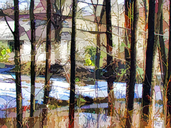 House Surrounded By Trees Poster featuring the painting House Surrounded By Trees 2 by Lanjee Chee