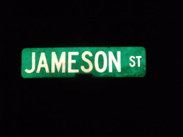 Street Sign Poster featuring the photograph Jameson Street by Anna Villarreal Garbis