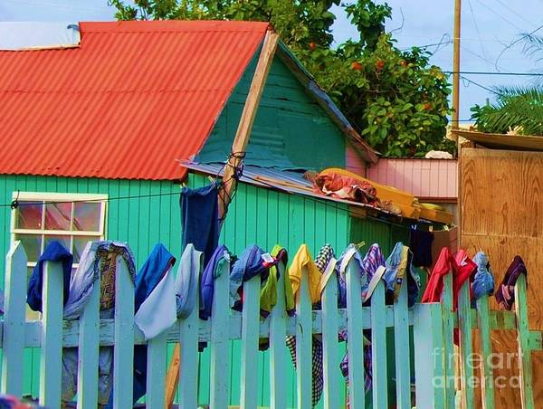 Clothes Poster featuring the photograph Laundry Day by Debbi Granruth