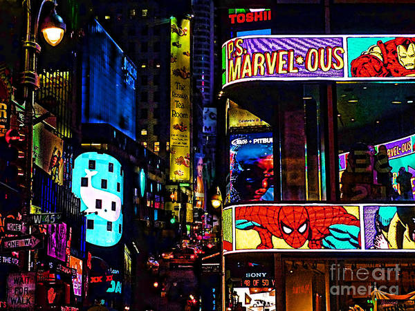 Marvel Comics Poster featuring the photograph Marvelous by Jeff Breiman