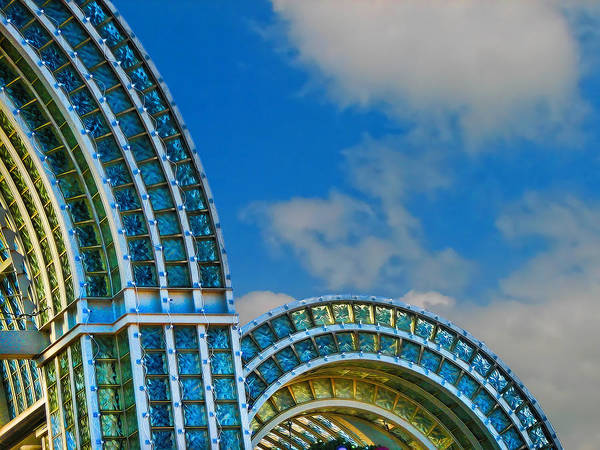 Sky Poster featuring the photograph On A Blue Day by Wendy J St Christopher