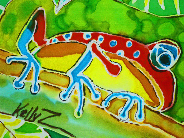Frog Poster featuring the painting Pa Froggy by Kelly   ZumBerge