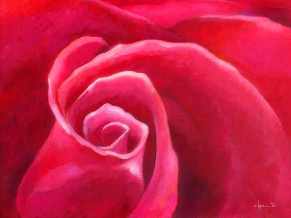 Roses Poster featuring the painting Rosey Lover by Angela Treat Lyon