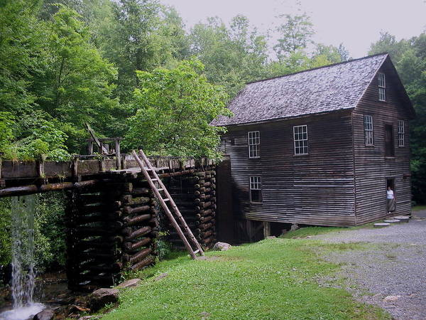 Smoky Mountain National Park Poster featuring the photograph Smoky Mountain Mill by CGHepburn Scenic Photos