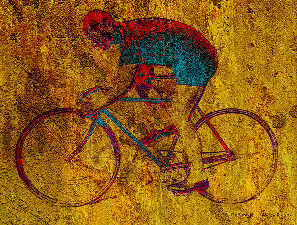 Bicycle Poster featuring the photograph The Cyclist by Andrew Fare