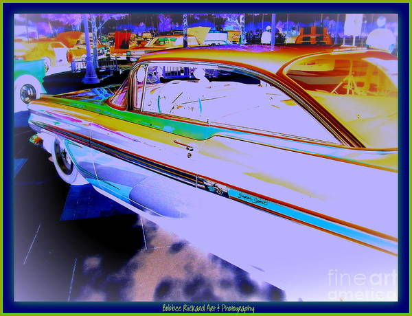 Chevy Poster featuring the photograph Chevy Psycho Delic by Bobbee Rickard