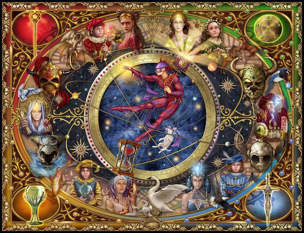 Ciro Marchetti Poster featuring the digital art Legacy Of The Divine Tarot by Ciro Marchetti
