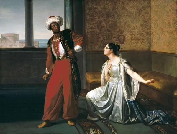 Horizontal Poster featuring the photograph Sabatelli, Gaetano 1842-1893. Otello by Everett