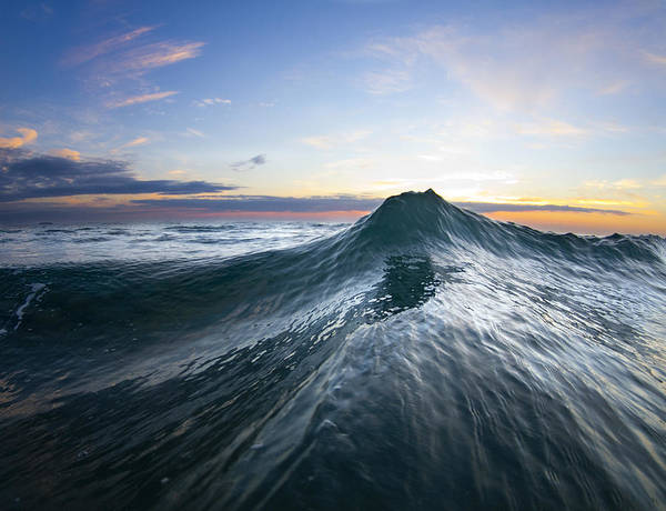 Wave Poster featuring the photograph Sea Mountain by Sean Davey