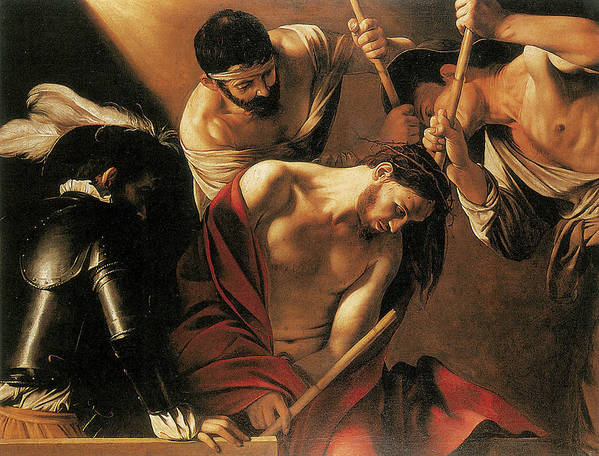 Caravaggio Poster featuring the painting The Crowing With Thorns by Caravaggio