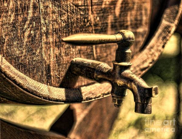 Barrel Tap Poster featuring the photograph Vintage Barrel Tap by Paul Ward