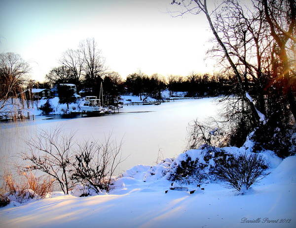 Winter Landscape Poster featuring the photograph Winter Wonderland In Maryland Usa by Danielle Parent